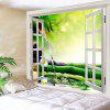 Window Bamboo Running Water Printed Wall Hanging Tapestry - COLORMIX
