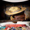 West Cowboy Cap and Boots Printed Wall Tapestry - BROWN
