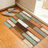 Wooden Flooring Pattern Anti-skid Water Absorption Area Rug - COLORMIX