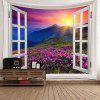 Sunrise Mountain Lavender Print Wall Art Tapestry - COLORFUL