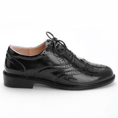 Wingtip Scallop Casual Shoes