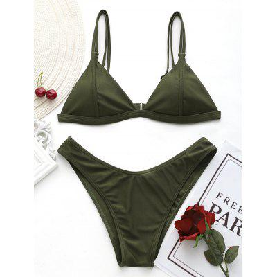 High Cut Cami Thong Bikini Set