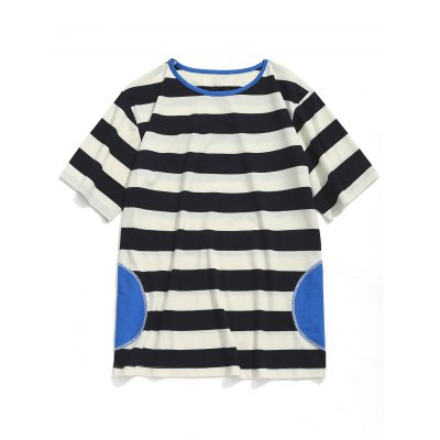 Patch Striped Tee