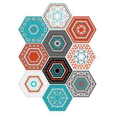Pegatinas de pared geométricas antideslizantes 10PCS Hexagon