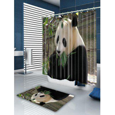 Eating Panda Print Waterproof Shower CurtainShower Curtain<br>Eating Panda Print Waterproof Shower Curtain<br><br>Materials: Polyester<br>Number of Hook Holes: W59 inch*L71 inch: 10; W65 inch*L71 inch: 12; W71 inch*L71 inch: 12; W71 inch*L79 inch: 12; W79 inch*L71 inch: 12<br>Package Contents: 1 x Shower Curtain 1 x Hooks (Set)<br>Pattern: Animal<br>Products Type: Shower Curtains<br>Style: Cute