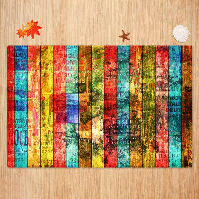 Colorful Woodgrain Pattern Non-skip Floor Area RugBlankets &amp; Throws<br>Colorful Woodgrain Pattern Non-skip Floor Area Rug<br><br>Materials: Coral FLeece<br>Package Contents: 1 x Rug<br>Pattern: Letter,Wood Grain<br>Products Type: Bath rugs<br>Shape: Rectangle<br>Style: Fashion