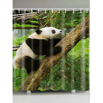 Climbing Tree Panda Pattern Shower Curtain