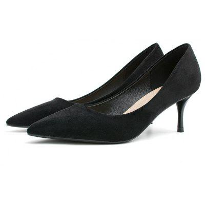 High Heel Faux Suede PumpsWomens Pumps<br>High Heel Faux Suede Pumps<br><br>Heel Height: 7CM<br>Heel Height Range: High(3-3.99)<br>Heel Type: Stiletto Heel<br>Occasion: Office &amp; Career<br>Package Contents: 1 x Pumps (pair)<br>Pumps Type: Basic<br>Season: Spring/Fall, Summer<br>Shoe Width: Medium(B/M)<br>Toe Shape: Pointed Toe<br>Toe Style: Closed Toe<br>Upper Material: Suede<br>Weight: 1.3800kg