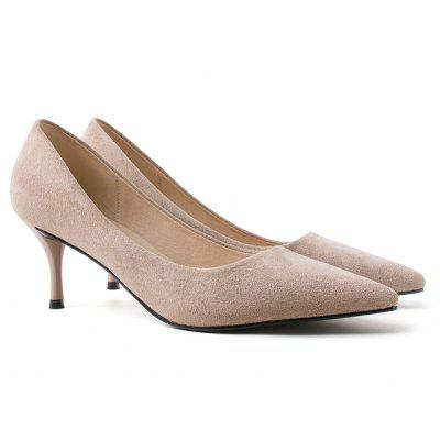 High Heel Faux Suede Pumps