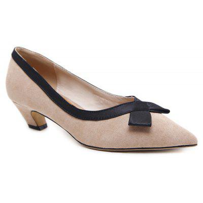 Bowknot Detail Pointed Toe Pumps
