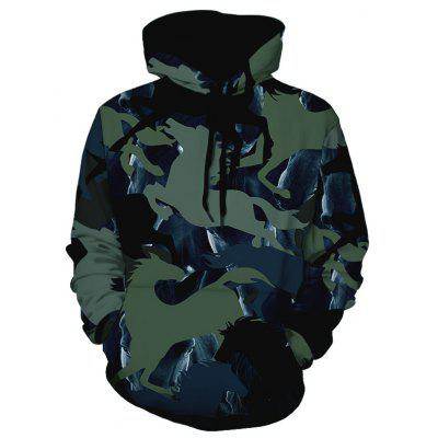 Horse Pattern Camouflage Pullover Hoodie