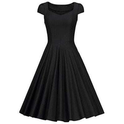 Retro chérie Neck Dress Pin Up