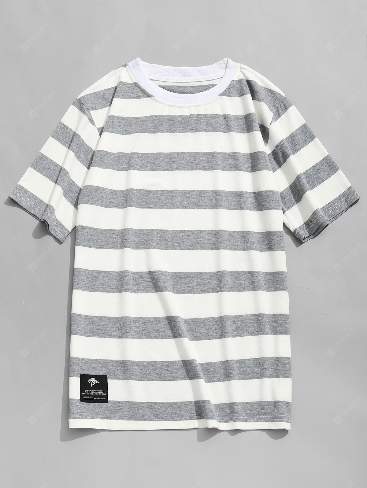 Stripe Crew Neck Mens T-shirt