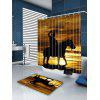 West Cowboy Rider Printed Shower Curtain - BROWN YELLOW
