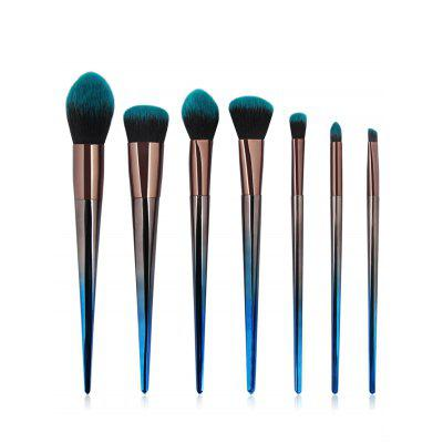 7Pcs Gradual Color Handle Fiber Hair Makeup Brush Set