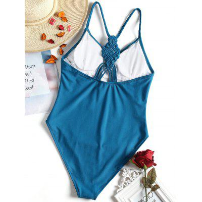 Plaited High Cut Swimsuit