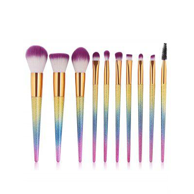 Professional 10Pcs Ultra Soft Synthetic Fiber Hair Makeup Brush Set