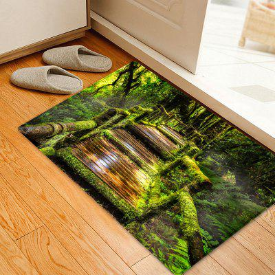 Wooden Path In Forest Pattern Non-slip Floor Area Rug