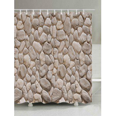 3D Gravel Stone Print Bath Shower Curtain