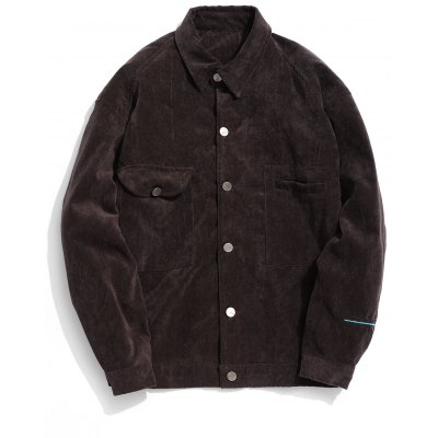 Corduroy Button Up Mens Jacket