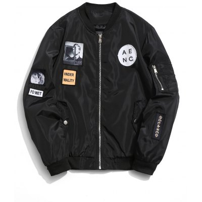 Parche Zip Up Bomber Jacket