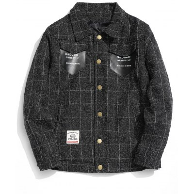 Checked Graphic Pocket Jacket