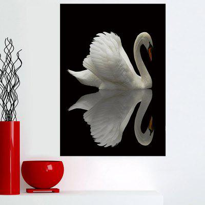 Shadow Swan Print Stickable Wall Art Painting