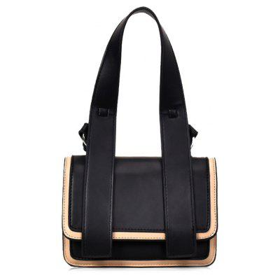 Color Block Flap Crossbody Bag with Handle