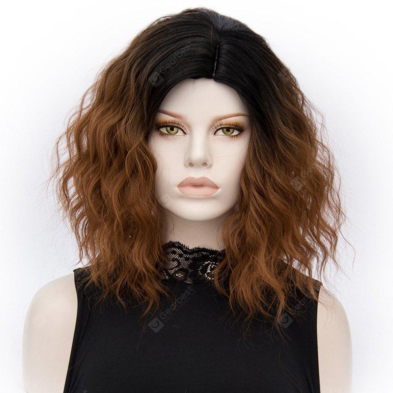 Medium Side Parting Ombre Natural Wavy Synthetic Wig