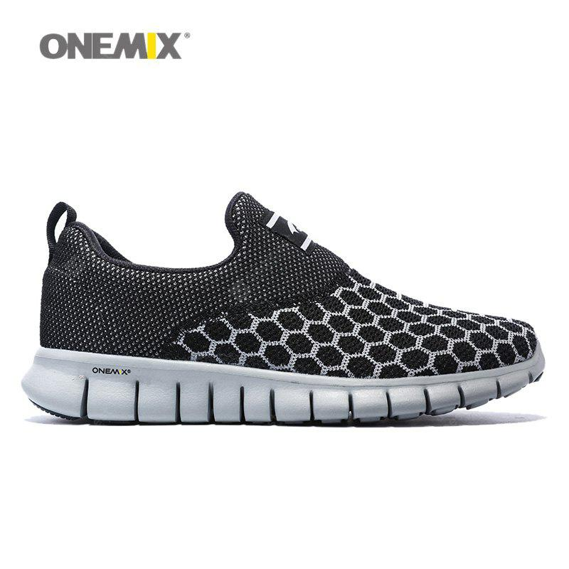 ONEMIX Breathable Geometric Pattern Athletic Shoes