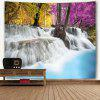 Natural Waterfall Landscape Print Wall Tapestry - COLORFUL