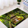Wooden Path In Forest Pattern Non-slip Floor Area Rug - GREEN