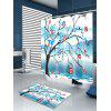 Birds Resting in Tree Print Fabric Shower Curtain - COLORMIX