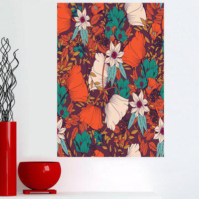 Bohemian Flowers Sticky Wall Canvas Painting
