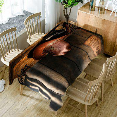 West Cowboy Hat Printed Table Cloth