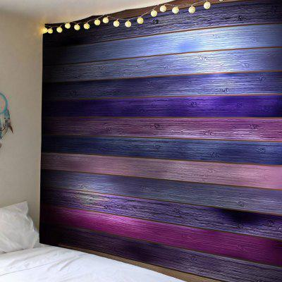 Coloured Plank Printed Tapestry