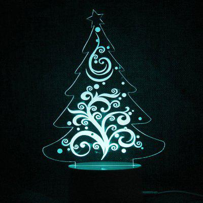 Color Changing Christmas Tree Shape Telecontrol Night Light