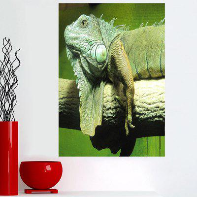 Staring Chameleon Print Sticky Wall Art Painting