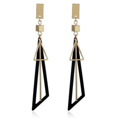 Alloy Triangle Bar Drop Earrings