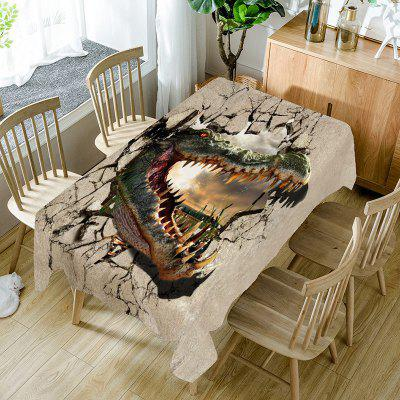 Openmouthed Dinosaur Pattern Table Cloth