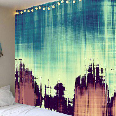 Fuzzy Shadow Printed Tapestry