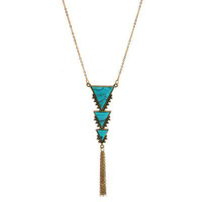 Ожерелье Vintage Triangle Fringed Chain Pendant