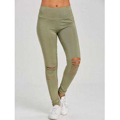 Distressed Skinny Sports Leggings