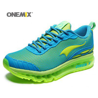 ONEMIX Air Cushion Tie Up Running ShoesWomens Sneakers<br>ONEMIX Air Cushion Tie Up Running Shoes<br><br>Closure Type: Lace-Up<br>Feature: Breathable<br>Gender: For Women<br>Outsole Material: Rubber<br>Package Contents: 1 x Running Shoes (Pair)<br>Pattern Type: Geometric<br>Season: Spring/Fall<br>Shoe Width: Medium(B/M)<br>Upper Material: Mesh<br>Weight: 1.3640kg