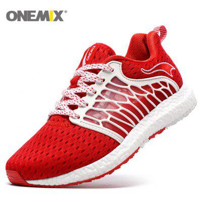 ONEMIX Breathable Mesh Lightweight Outdoor Running ShoesWomens Sneakers<br>ONEMIX Breathable Mesh Lightweight Outdoor Running Shoes<br><br>Closure Type: Lace-Up<br>Feature: Breathable<br>Gender: For Women<br>Outsole Material: Rubber<br>Package Contents: 1 x Sneakers (Pair)<br>Pattern Type: Others<br>Season: Spring/Fall<br>Shoe Width: Medium(B/M)<br>Upper Material: Mesh<br>Weight: 1.3640kg