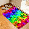 Colorful Uneven Block Pattern Floor Area Rug - COLORMIX