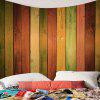 Rainbow Wood Grain Printed Wall Art Tapestry - COLORFUL