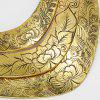 Flower Peacock Printed Layered Metal Necklace - GOLDEN