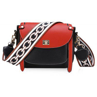 Stitching Flap Color Block Crossbody Bag