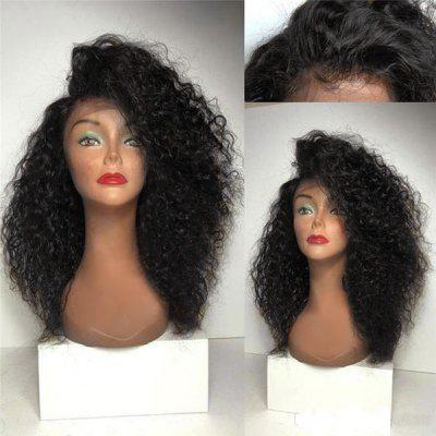 Long Deep Side Parting Fluffy Curly Lace Front Synthetic Wig